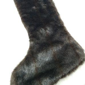Handmade faux fur mink stocking silky material